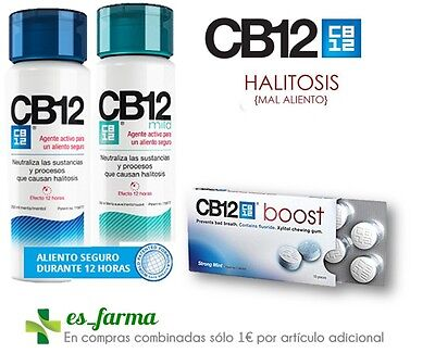 Cb 12 Cb12 Cuidado Bucal Mal Aliento Halitosis Chicles Enjuague 250Ml Colutorio