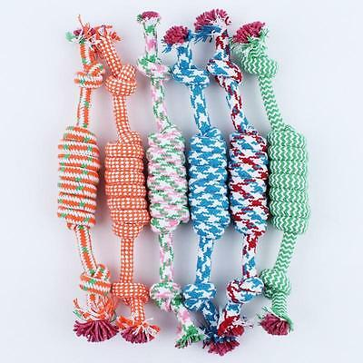 Puppy Dog Pet Toy Cotton Braided Bone Rope Chew Knot New Random color WS