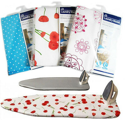 Ironing Board Cover Easy Fit Underlay Elasticated Cotton Stem Dry Heat Reflects