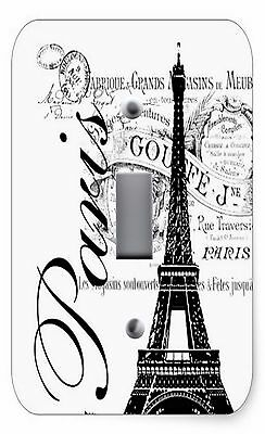 Light Switch Plate & Outlet Covers PARIS EIFFEL TOWER BLACK & WHITE PRINT