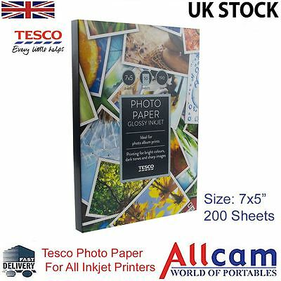 "4 Pack: Tesco Value Glossy Photo Paper 7x5"" (180x130 mm) 190 g/m2 - 200 sheets"