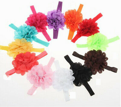 Baby toddler flower floral elastic headband accessory 12 colours head band 1541