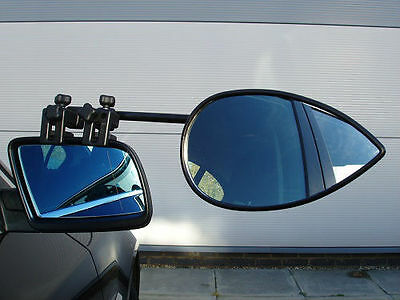 Milenco Aero 2 Towing Caravan Mirror Twin Pack - X2 Convex Glass