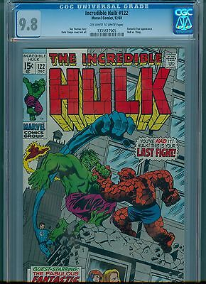 Incredible Hulk #122 CGC 9.8 OW/White Pages FF X Over, Highest Graded Copy