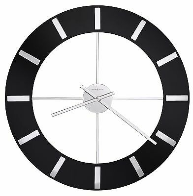 """Howard Miller -625-602  """"onyx""""  625602 Gallery Style Contemporary 30"""" Wall Clock"""