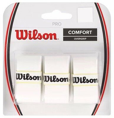 Wilson Pro Overgrip  -  Pack Of 3 Grips - Comfort - White - Rrp £10