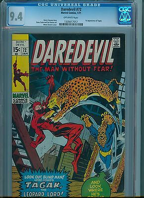 Daredevil #72 CGC 9.4 Off White Pages
