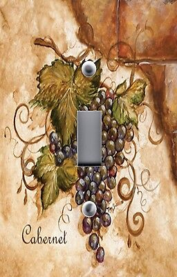 Light Switch Plate & Outlet Covers TUSCAN CABERNET GRAPES ON BRICK