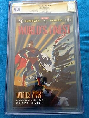 World's Finest (1990) #1 - DC - CGC SS 9.8 NM/MT - Signed by Steve Rude