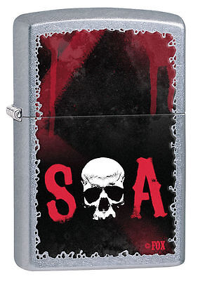 Zippo Windproof Sons Of Anarchy Lighter With Skull, 28836, New In Box