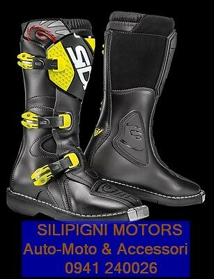Stivali Junior SIDI BLITZ Cross/Enduro Nero/Giallo Fluo