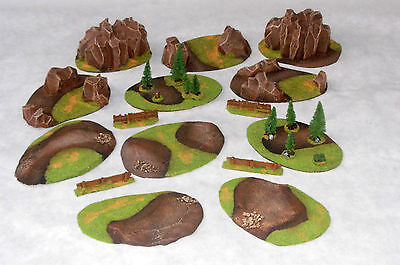 LARGE BattleField SET 15 pieces Wargame scenery Warhammer W40K 28mm painted