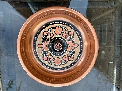 Turkish Kutahya Tile Bowl Porcelain Ottoman Arts 12 cm Embossed  Handmade-01