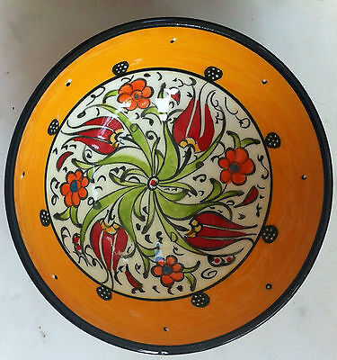 Turkish Kutahya Tile Bowl Porcelain Ottoman Arts 12 cm Embossed  Handmade-13