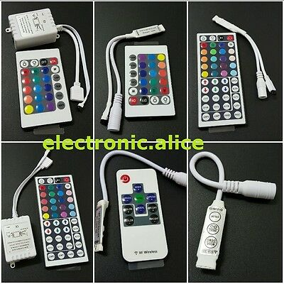 3528 5050 LED Strip Mini 3/24/44 Key IR RGB Remote Controller led RGB controller