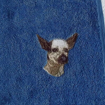Inca Hairless Dog Embroidered Face Cloth/ Flannel, Dog Gift, Embroidery