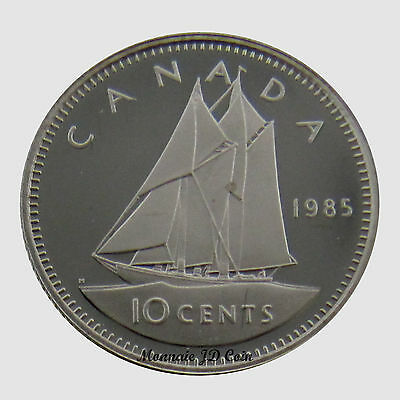 Canada 1985  10 Cents Proof Ultra Heavy Cameo  Coin