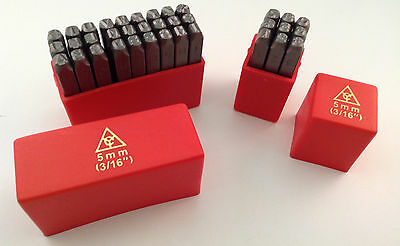 36pc 3/16 5MM Letter & Number Stamp Punch Set Hardened Steel, Metal Wood Leather