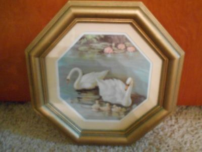 Swan picture Vintage Home Interiors