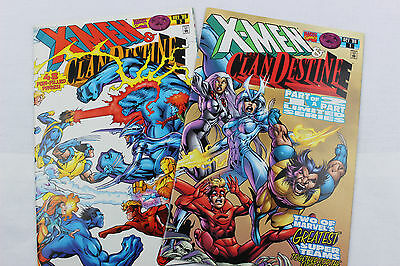 X-Men and the ClanDestine #1-2 COMPLETE SET (Marvel) Uncertified NM-