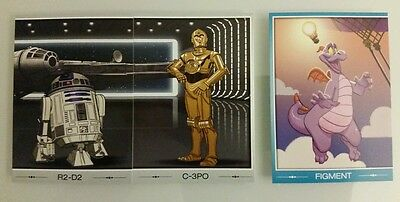 Disney D23 Expo 2015 Trading Card Quest Lot of 3 R2-D2,C-3PO,Figment! Exclusive!
