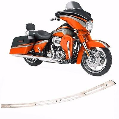 BAGGER Slotted Batwing Fairing Windscreen Trim For 1996-2013 Harley Touring Tri