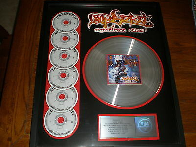 Limp Bizkit PLATINUM RECORD/CASSETTE/CD AWARD Significant Other
