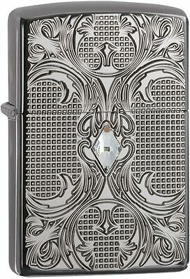 Zippo Armor Windproof Crystal Lattice Lighter With Swarovski Crystal 28956, NIB
