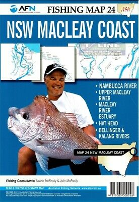 AFN Fishing Maps NSW Macleay Coast (NSW) Map 24 Tear & Water Resistant Map