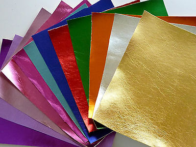 Metallic Faux Leather Fabric - 16 colours available