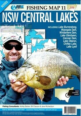 AFN Fishing Maps NSW Central Lakes (NSW) Map 11 Tear & Water Resistant Map