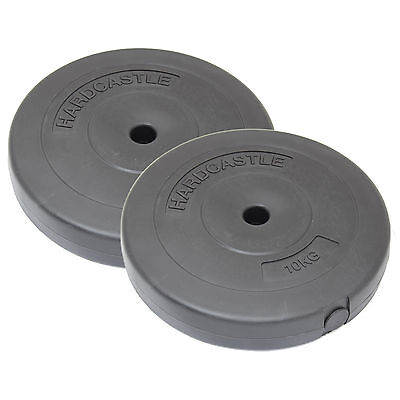 "2X 10Kg 1"" Hole Home Gym Vinyl Weight Plates/discs Training/lifting Weights 20Kg"