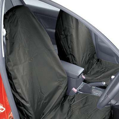 Universal Waterproof Black Nylon Front Seat Protectors/Covers for Car/Van Seats