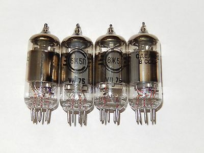 6J5P/6Ж5П=6AH6,6F36,6485 Same Data Codes Svetlana Pentode Tube Lot 2pcs