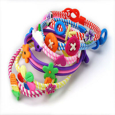 6PCS Wholesale Jewelry Lots Polymer Clay Kids Baby Children Bracelets Wirst band