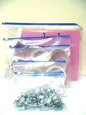 Zip Lock Slider Top Airport Travel Bags -  Blue Top - 5 Sizes - Buy 10 To 50