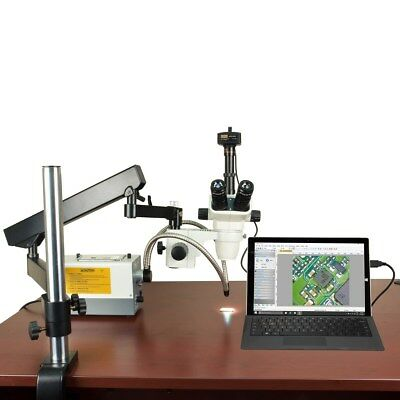 OMAX 2X-270X 14MP Articulating True Trinocular Microscope with 150W Dual Light