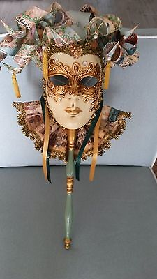 Unique Venetian Wall Mounted Mask, Beautifully Decorated