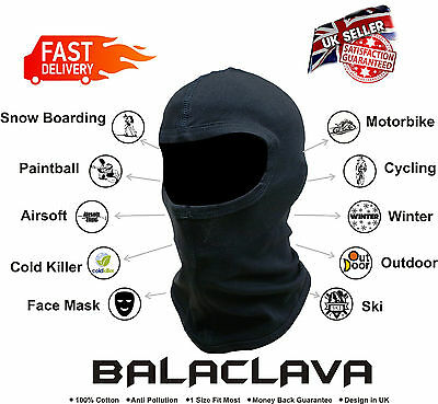 Motorbike Motorcycle Balaclava Ski Face Mask Under Helmet Neck Warmer Thermal UK