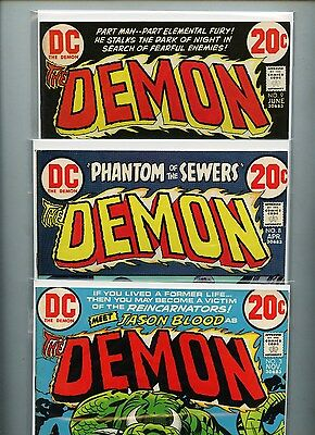 The Demon #3, #8, and #9 -- Lot of 3 Comics -- Free Shipping in USA!
