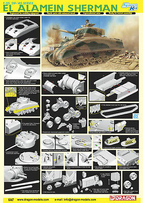 DRAGON #6447 1/35 El Alamein Sherman