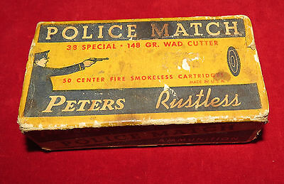 Peters Rustless Police Match .38 Special Picture Box Empty Pistol