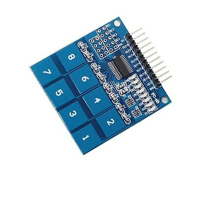 5PCS TTP226 8 Channel Digital Capacitive Switch Touch Sensor Module S3