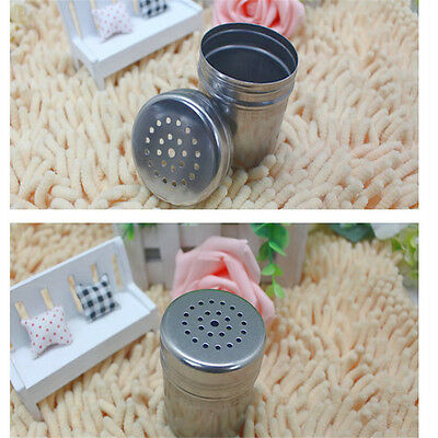 1PCS New Stainless Steel Spice Bottle Jar Sifter Cap Shaker Top Lid Sugar SaltBH