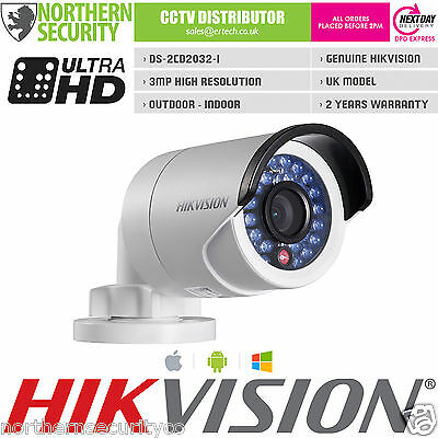 Hikvision DS-2CD2032F-I 4mm 3MP 2MP 1080P POE SD CARD Network IP Security Camera