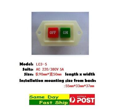 .3P AC 380V 10A On Off Start Stop Push Button latching Power Switch LC3-10 AU