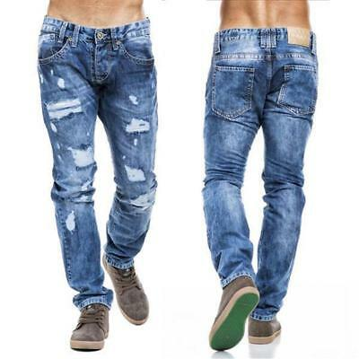 AMICA Herren Denim Destroyed Used Look Jeans Hose Cargo Chino Faded Model  1057 e4891a36ae