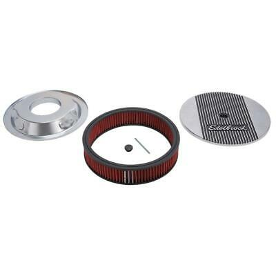 "Edelbrock Air Cleaner Assembly 4266; Elite II Polished Aluminum Round 14"" x 3"""