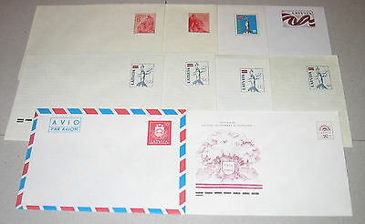 Latvia - 1990-92 Postal Stationaries - Covers with Original Stamps