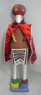 "African Beaded 21"" Doll Authentic from South Africa Johannesburg 23 yrs old"